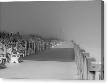Spring Lake Boardwalk - Jersey Shore Canvas Print