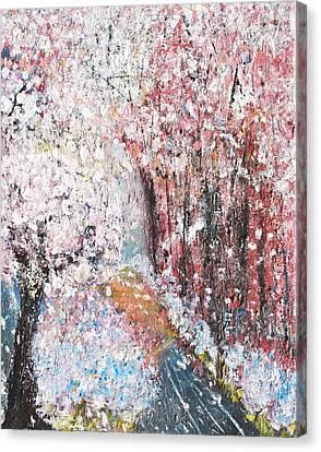 Spring Landscape Canvas Print by Evelina Popilian