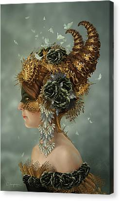 Modern Digital Art Canvas Print - Spring Masquerade by Cassiopeia Art