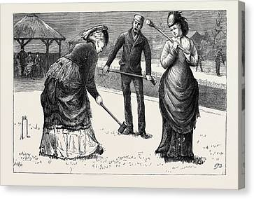 Spring Meeting Of The All England Croquet Club At Wimbledon Canvas Print