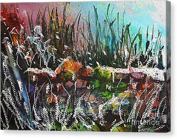Spring Meltdown Canvas Print by Kathleen Pio