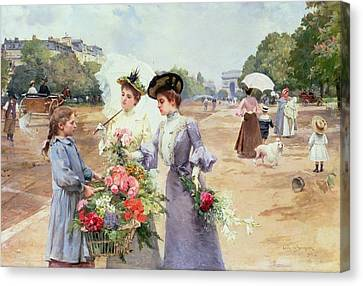 Spring Morning Canvas Print by Louis de Schryver