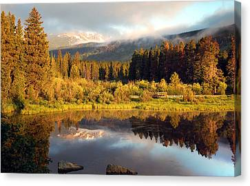 Canvas Print featuring the photograph Spring Morning by Gregory Ballos