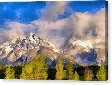 Spring Morning In The Tetons Canvas Print by Dan Sproul