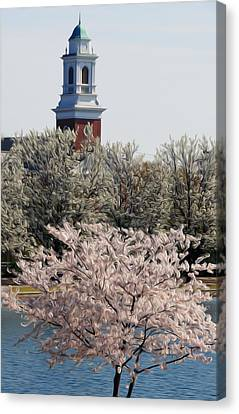 Dogwood Lake Canvas Print - Spring On Fountain Lake by Kelvin Booker