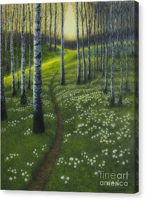 Painterly Canvas Print - Spring Path by Veikko Suikkanen