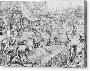 Bruegel Canvas Print - Spring by Pieter the Elder Bruegel