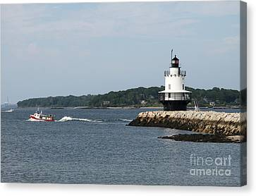 Spring Point Ledge Light II - Portland Harbor Canvas Print by Christiane Schulze Art And Photography