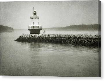Spring Point Ledge Light Canvas Print by Joan Carroll