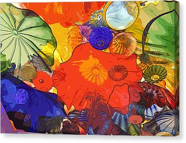 Canvas Print featuring the digital art Spring Poppies by Kirt Tisdale