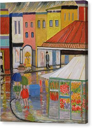 Spring Rain Bywood Market  Canvas Print by Patricia Eyre