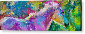 Spring Rain Canvas Print by Greg Collins