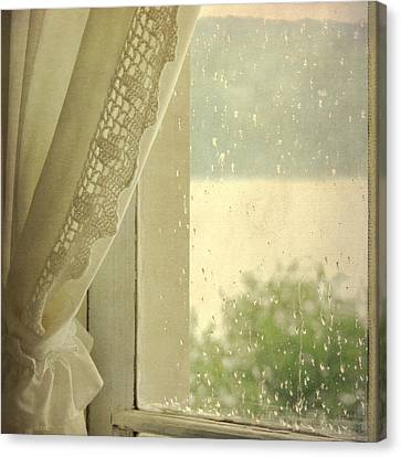 Canvas Print featuring the photograph Spring Rain by Sally Banfill