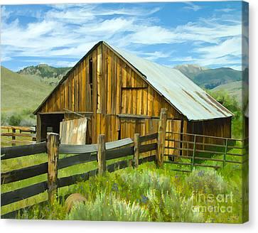 Spring Range Barn Canvas Print