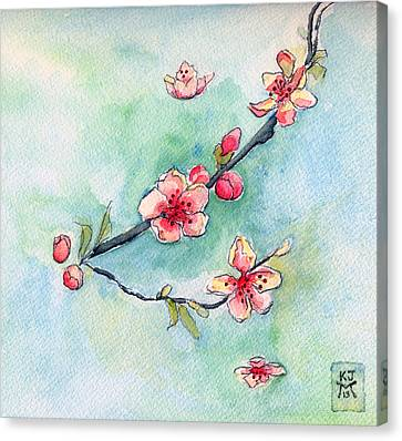 Spring Relief Canvas Print by Katherine Miller