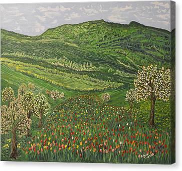 Spring Remembrances Canvas Print by Felicia Tica