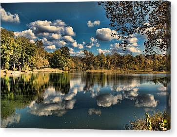Spring River Autumn Canvas Print by Rick Friedle