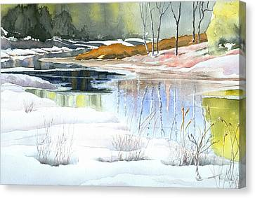 Spring Run-off At Willow Creek Canvas Print by Jo Appleby