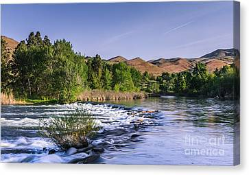 Spring Run Off On The Payette River Canvas Print by Robert Bales