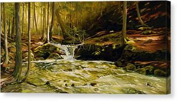 Spring Rush Canvas Print by Linda Hunt