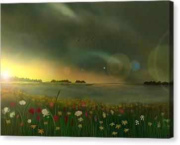 Spring Serenity Canvas Print by Steve Hermann