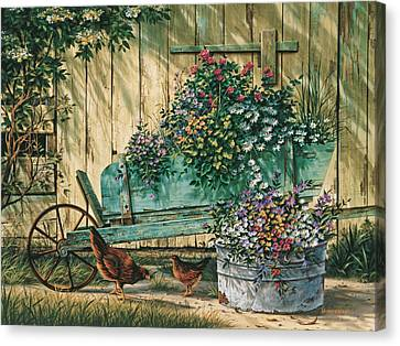 Spring Social Canvas Print by Michael Humphries