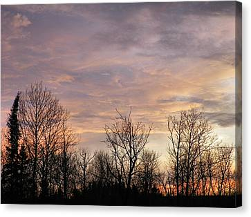 Spring Sun Sets Canvas Print by Gene Cyr