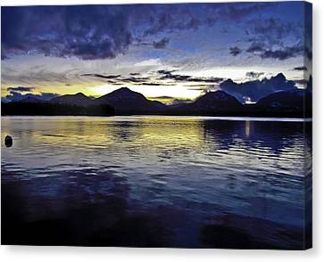 Canvas Print featuring the photograph Spring Sunset by Timothy Latta