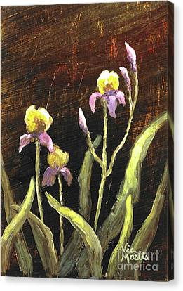 Canvas Print featuring the painting Spring Surprise II by Vic  Mastis