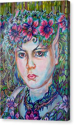 Canvas Print featuring the painting Spring by Suzanne Silvir