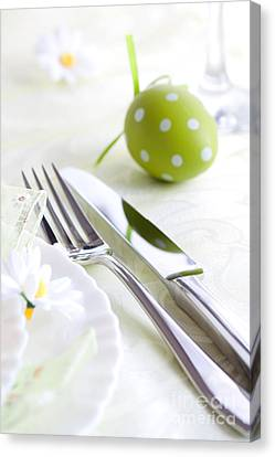Wine Service Canvas Print - Spring Table Setting by Mythja  Photography