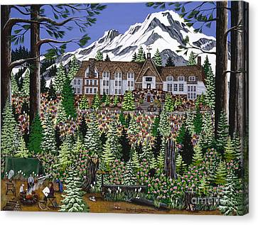 Spring Time Timberline Canvas Print