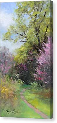 Spring Trail Canvas Print by Anna Rose Bain