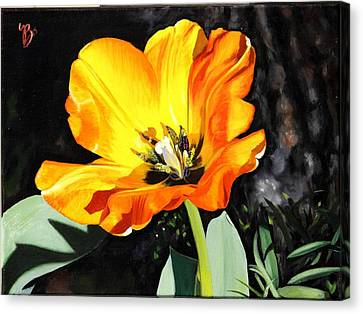 Canvas Print featuring the painting Spring Tulip by Glenn Beasley