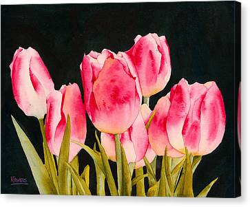 Spring Tulips Canvas Print by Ken Powers