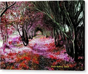 Canvas Print featuring the painting Spring Walk In The Park by Bruce Nutting