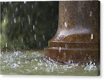 Canvas Print featuring the photograph Spring Water Fountain by Colleen Williams
