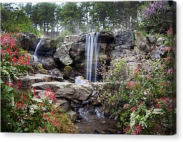 Spring Waterfall Canvas Print by Robert Camp