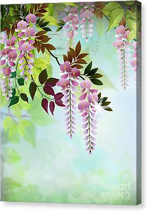Colorful Sky Canvas Print - Spring Wisteria by Peter Awax
