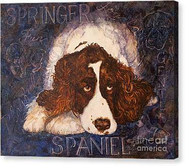 Springer Spaniel - Best Friend Canvas Print