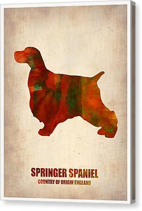Spaniel Puppy Canvas Print - Springer Spaniel Poster by Naxart Studio