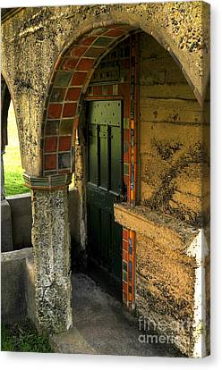 Springhouse Door At Fonthill  Canvas Print by Addie Hocynec