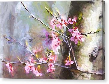 Spring's Awaited Color Canvas Print