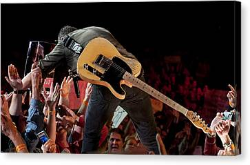 Springsteen In Charlotte Canvas Print by Jeff Ross