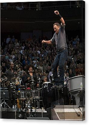 Springsteen In Motion Canvas Print by Jeff Ross