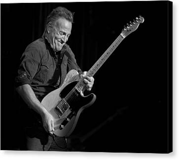 Springsteen Shreds Bw Canvas Print by Jeff Ross