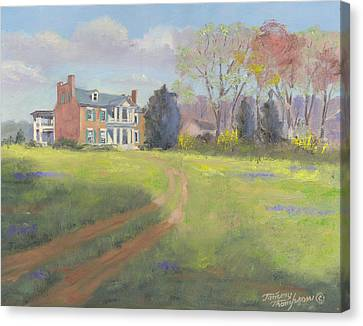 Carnton Plantation Canvas Print - Springtime At Carnton by Tommy Thompson