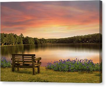 Springtime At The Lake Canvas Print