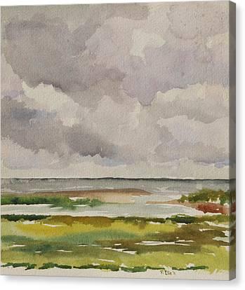 Springtime By The Sea Canvas Print by Peggy Ellis