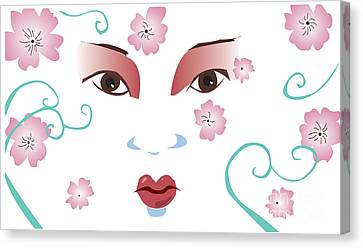 Springtime Geisha Canvas Print by Whitney Morton